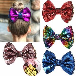 Cute Kids Lentejuelas Bow Horquilla Creativa de dos lados Mariposa giratoria Bowknot Pinzas para el cabello Moda Niños Fiesta Adornos para el cabello