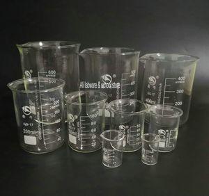 1PCS / lot 50ml a 2000ml Transparente Formado taça de vidro Lab copo de medição volumétrica Copos Química Experimento Ferramenta