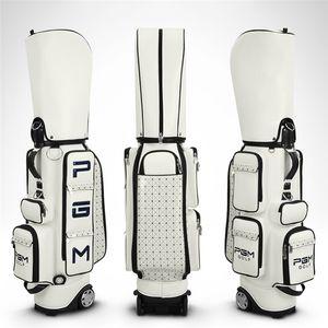 Pgm Sac de golf standard PU Sacs de golf étanche Aviation polyvalent Forfaits grande capacité Sacs de voyage avec D0082 Roues