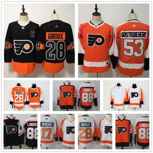 Flyers de Philadelphie personnalisés 2019 Hockey Jersey Stadium série Ivan Provorov 11 Travis Konecny 28 Claude Giroux 53 Shayne Gostisbehere