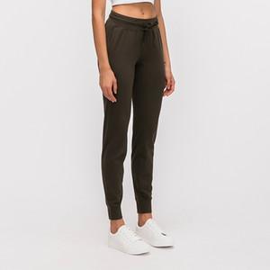 L-31 mulheres Yoga Pants Magro era magro Yoga calças com bolsos Lady Fashion Desportivo de Fitness Calças Outdoor soltas calças retas