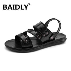 Summer Roman Beach Sandals Non-slip Leather Men Sandals Breathable Men Casual Shoes Sandalias De Hombre De Cuero