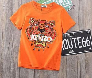 летний бренд осень новый продукт Детская одежда дети мультфильм вышивка тигр футболки толстовки