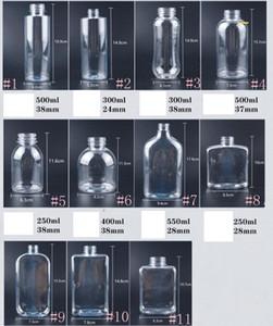 Garrafa de plástico bebidas garrafas de suco 250-550ml Transparente Garrafas liso rodada praça beber água Leak-proof da Copa com tampa By Sea GGA3486