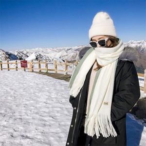 Inverno Cashmere Scarf Mulheres Grosso Quente Xailes Wraps Lady Sólidos qualidade Blanket lenços de moda borlas Pashmina foulard 2019 Novo