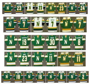 Maillot Vintage North Stars du Minnesota 9 Mike Modano 23 Brian Bellows 24 MARK TINORDI 18 BOBBY SMITH 16 BRIAN PROPP 2 CURT GILES Rétro Hockey