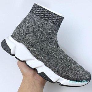 Yüksek Hızlı Trainer Womens Çorap Ayakkabı Oreo Grey Göz Kraliyet Erkekler Kadın Üst Kalite Moda Lüks Tasarımcı Sneakers Casua L03