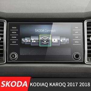 256 * 136mm 자동차 센터 콘솔의 LCD 화면 스티커 GPS 네비게이션 화면 단련 된 강철 보호 필름에 대한 Kodiaq Karoq