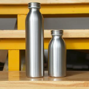 Edelstahl-Flaschen Milchflaschen Kinderwasserflasche 12 Unzen Vintage-Frühstück schütteln Container Vintage-Trinkflaschen Flasche Tassen