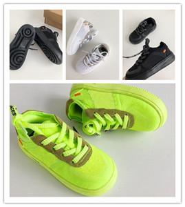 Scarpe da ginnastica per bambini Volt 2.0 per bambini Off 1 giallo Bianco arancio giallo Nero Ragazzi Ragazze Scarpe sportive di lusso dal design di moda EUR 22-35