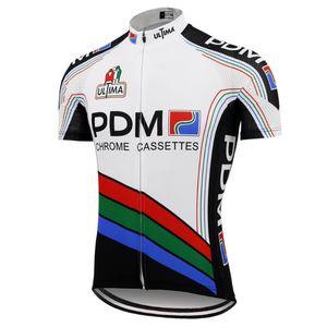 레트로 PDM 사이클링 저지 로파의 ciclismo 남성 짧은 소매 MTB 저지 트라이 애슬론 자전거 의류 팀 자전거 의류