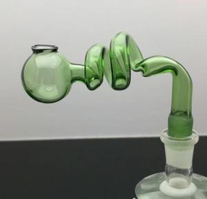 spirale couleur S cuisson pot en verre bongs brûleur à huile en verre pipe à eau Rigs huile Rig fumeurs