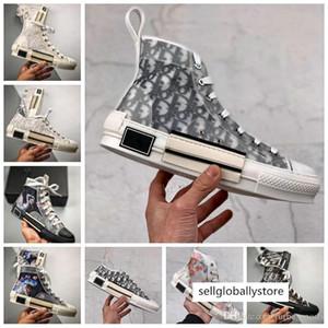 20ss Yeni Çiçekler Teknik Tuval B23 Yüksek Üst Lüks Eğik Erkek B24 Bayan Moda Boots Tasarımcı Ayakkabı vintage platformu spor ayakkabılar