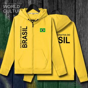 Бразилия Brasil BRA бразильский BR мужчины молния флисовые толстовки Зимние мужские куртки и национальная одежда страна толстовка пальто