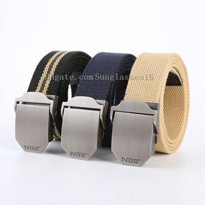 Unisex tactical belt Top quality 4 mm thick 3.8 cm wide casual canvas belts Outdoor Alloy Automatic buckle Men Belt size 120-160cm
