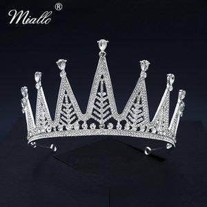 Miallo Moda Crystal Crown Silver Colore dei capelli nuziale nozze gioielli diademi e corone per Accessori Donna copricapo Prom