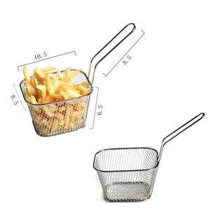 1Pc Frying Net Square Risciacquo a Vapore Strain Fry French Chef Magic Mesh Basket Strainer Net Cucina Cook Tool