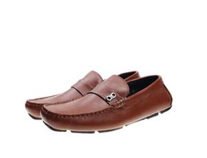 Yumuşak Deri erkekler Casual elbise ayakkabı parti doug ayakkabı Metal Toka Slip-on marka adam tembel düşler Loafer'lar Zapatos Hombre