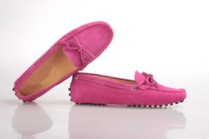 Orijinal Kutusu !!! Yeni Moda Bayan Papyon Loafer'lar Elbise Düğün rahat Yürüyüş Ayakkabıları Paris Ofis Sürücü Düz Topuk Deri Ayakkabı Boyutu 35-40
