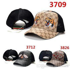 Il nuovo modo del serpente Snapback Cap Bee Tiger donne degli uomini di marca del progettista Sport Truck Cappelli Mesh g Baseball Caps Casual Hip-Hop Hat