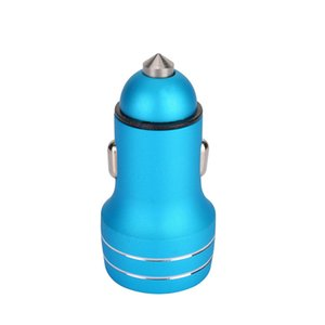 Alloy Fast Car Charger 5V 2.4A Metal Aluminum Charging Adapter 18W Dual Ports USB Adapter for iPhone XR samsung huawei