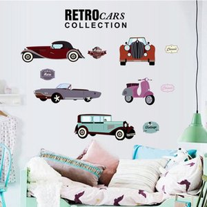 20190621 pintura de parede retro do carro dos desenhos animados
