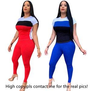 Femmes designer marque 2 pièce pantalons survêtements sportswear t-shrit pantalons costume de sport pull leggings tenues Body vêtements d'été 1017