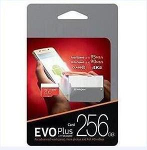 Dropship Black Red EVO+ Plus U3 Class 10 256GB 64GB 32GB 128GB Flash TF Card Memory Card C10 Adapter PRO PLUS Class 10 100mb s