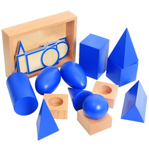 Деревянные игрушки Монтессори Детские Монтессори Геометрическая Solids Обучающие Раннее Обучение игрушки для детей подарок на день рождения MI2544H Y200428