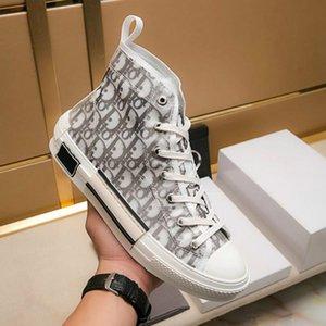 DIOR HOMMEMarca caliente de la lona libre de calidad superior zapatos de moda para mujer de las mujeres l ayuda baja zapatos de lona de las zapatillas de deporte sandalias