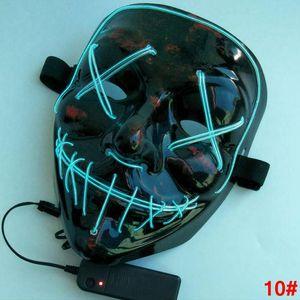 할로윈 엘 와이어 콜드 라이트 라인 고스트 공포가 LED 파티 코스프레 가장 무도회 스트리트 댄스 할로윈 레이브 장난감 LJJA2812-4N 마스크 마스크