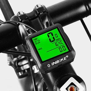 INBIKE السلكية دراجات الحاسوب الخلفية MTB دراجة ركوب الدراجات عداد السرعة عداد المسافات ساعة وساعة التوقيت للسرعة CLOCK TRIP RIDE TM AVSPD