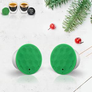 Edelstahl-Metall-Wiederverwendbare Dolce Gusto Kaffeekapsel Kompatibel mit Nescafe Maschine nachfüllbar Filter Dripper