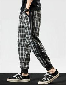Harem Pants Fashion Desigenr Elastics Waist Street Style Jogger Pants New Style Mens Designer Trousers Mens Plaid