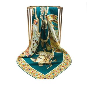 Mulheres Designer Cachecol Moda Crepe seda cetim de 110 cm Quadrados Cachecol Roman Holiday Joker xale Silk Joker Scarves Women'