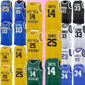 NCAA 14 Will Smith 25 Carlton Banks Jersey Magia Cheap 33 Johnson College Basketball Jersey ricamati Logos S-XXL 9898
