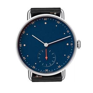 2020 Новый бренд Номос Большой циферблат кварцевые пару часов Женская рать Платье кожаный ремешок платье вскользь Часы