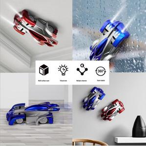 nova RC chegada parede de escalada carro de controle remoto carro dublê de alpinista Esporte Racing Cars gravidade Electric Brinquedos 2.5G Quatro vias remoto