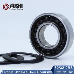 60 32 Hybrid Ceramic Bearing 32*58*13 mm ( 1PC ) Race Bike Front Rear Wheel 60 32 2RS LUU Hybrids Si3N4 Ball Bearings 60 32RS