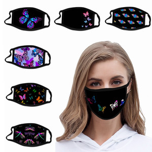 2020 Schmetterlings-Gesichtsmaske Waschbar Wiederverwendbare Mundmasken Eis Seidenstoff atmungsaktiv Anti-Staub-Schutz Erwachsene Kinder Mode HHA1397