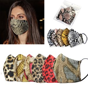Creativity Leopard Printing Face Mask Fashion Designer Dust-proof Washable Reusable Sports Cycling Mask DHB210