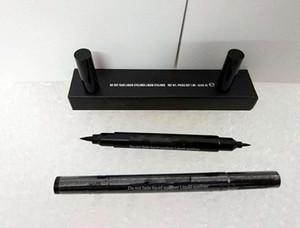 Delineador líquido negro Maquillaje de larga duración Impermeable Doble cabeza Delineador de ojos Lápiz Lápiz Niza Maquillaje Cosméticos Lápiz de cejas