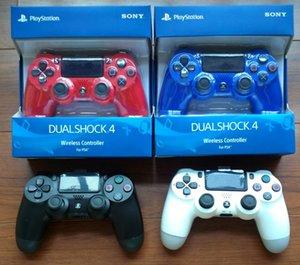 4 cores PS4 controlador sem fio PS4 Vibration Joystick Gamepad PS4 jogo controlador com pacote de varejo preço de atacado