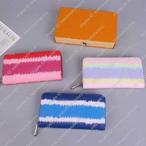 Дизайнер кошелек Роскошный дизайнерский бренд женщин бумажники Escale Длинные Zippy бумажники Леди из натуральной кожи подкладка холст бумажники
