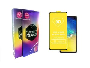 9D Full Glue Full Cover Tempered Glass Screen Protector For Samsung Galaxy S10E J2 Core J4 J6 J7 J8 Huawei Y9 2019 P30 Lite With Package