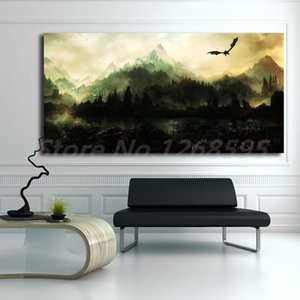 Blades V Skyrim Beautiful Dovahkiin Canvas Painting Print Living Room Home Decor Modern Wall Art Oil Painting Poster