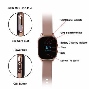 T58 relógio inteligente Crianças Criança Elder Dispositivo Adulto GPS Track Pulseira pessoais Locator Rastreador GSM WiFi Chamada Grátis Relógio de pulso para o iPhone Android