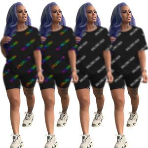 46A8519 diseñador de las mujeres chándal con capucha de manga corta trajes de Legging de dos piezas flaco camiseta de juego del deporte Medias Jerseys Pantalones Cortos