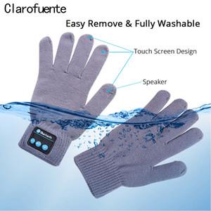 Touchscreen Sport Bluetooth Anrufen Musik Handschuhe Frauen Männer Herbst Winter Stricken Warme Reden Handschuhe für Handy Pad XiaoMi