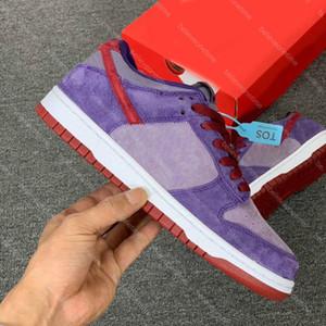 Best Quality SB Dunk Low SP Plum 2020 Daybreak Barn Purple Red Sneakers CU1726-500 Men Women Running Shoes Skateboard Sports Sneakers